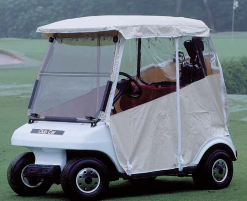 White Vinyl 3 Sided Over The Top Enclosure For Club Car Ds Model Years 1982 To 1999 With Hooks Attach Bottom Of Custom Fit