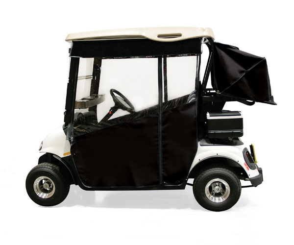Discount Cart Parts :: Black Sunbrella Track Enclosure w/ Matching on custom golf cart covers, 3 sided golf cart covers, door works golf cart covers, golf cart canopy covers, discount golf cart covers, national golf cart covers, buggies unlimited golf cart covers, classic golf cart covers, portable golf cart covers, club car golf cart rain covers, rail golf cart covers, yamaha golf cart covers, canvas golf cart covers, eevelle golf cart covers, clear plastic golf cart covers, star golf cart covers, sam's club golf cart covers, harley golf cart seat covers, vinyl golf cart covers, golf cart cloth seat covers,