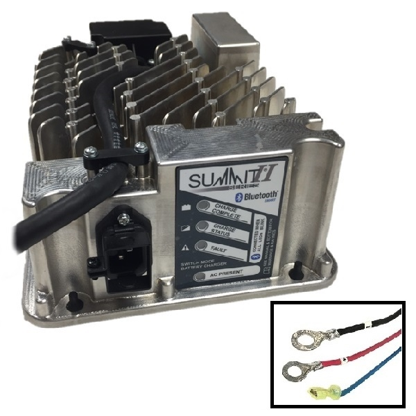 on 48 volt golf cart battery charger with crows foot plug